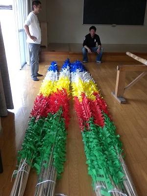5色の馬簾