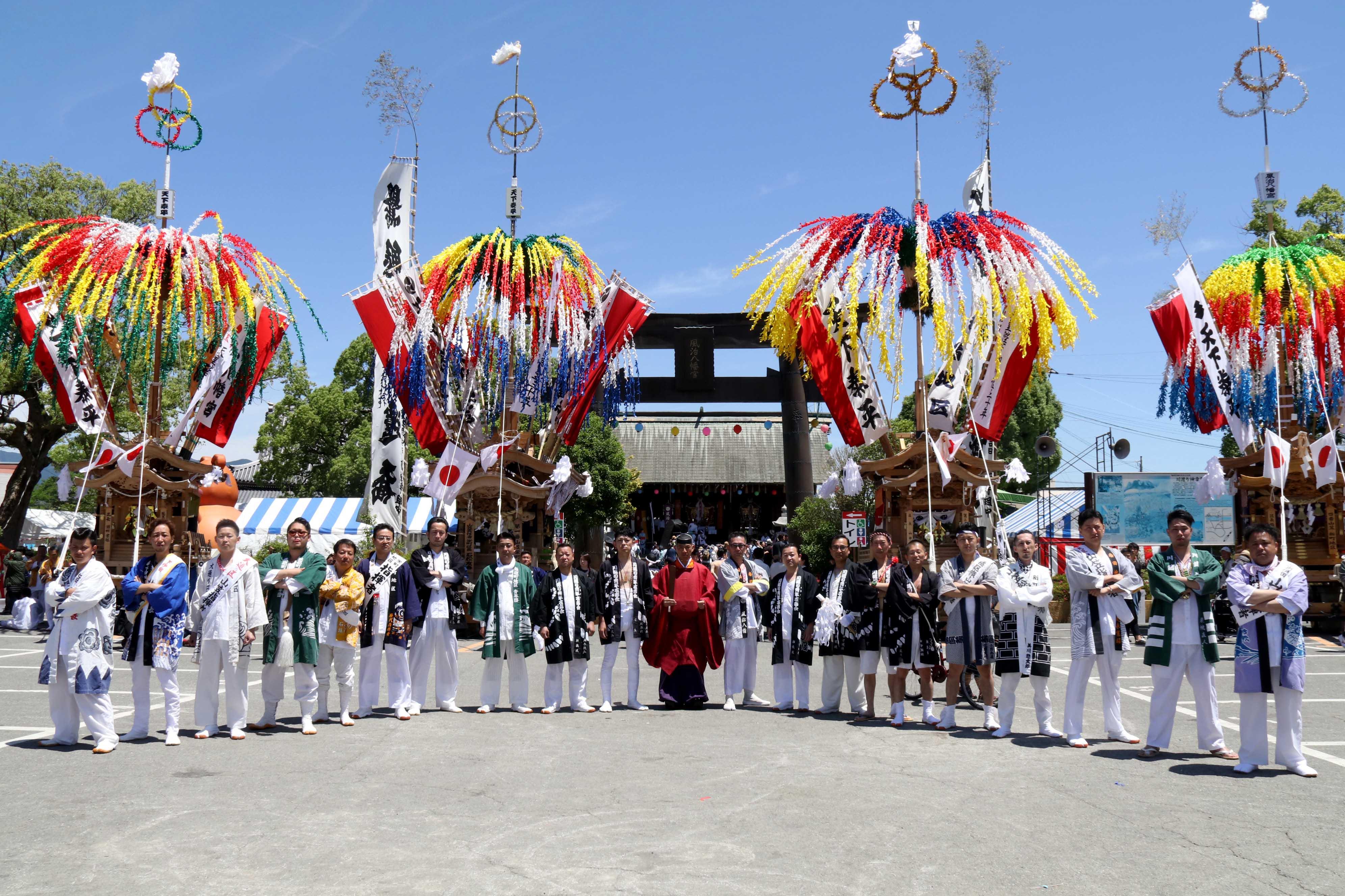 福岡県無形民俗文化財指定 風治八幡宮 川渡り神幸祭(かわわたりじんこうさい)